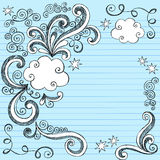 Cloud Bubbles Sketchy Doodles. Hand-Drawn Sketchy Notebook (Sketchbook) Doodles Vector Illustration of Comic Book Style Cloud Bubble / Thought Bubble Design Stock Image