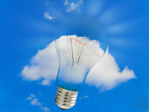 Cloud and bulb Stock Image