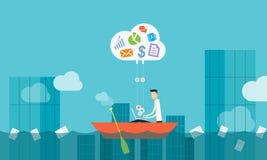 Cloud business connection.social business. Business cloud network connection concept Stock Image