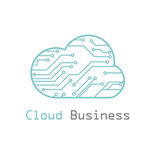 Cloud business logo vector template Royalty Free Stock Photos