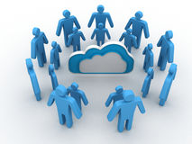 Cloud business network Royalty Free Stock Images