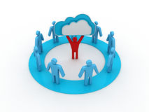 Cloud business network Stock Photography