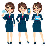 Cloud Businesswoman Devices Royalty Free Stock Image