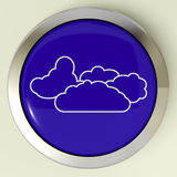 Cloud Button Means Rain Rainy Weather Stock Photo