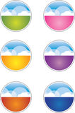 Cloud Buttons / Icons. A collection of colorful cloud buttons Stock Photography