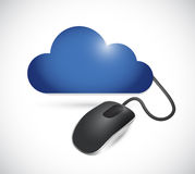 Cloud and cable connection cord illustration Royalty Free Stock Photos