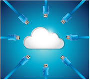 Cloud cable connections illustration design Royalty Free Stock Photography