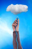 Cloud and a cable Stock Image