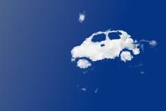 Cloud car. Shape on clear blue sky Royalty Free Stock Photography