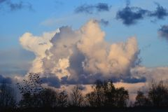 Cloud carrying rain or storms royalty free stock images