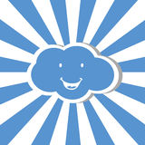 Cloud cartoon Stock Images