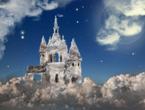 Cloud castle at night Royalty Free Stock Image