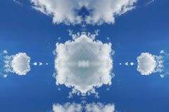 Cloud at the center in blue sky cloud technology concept. In the center place for your logo or text stock photos