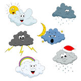 Cloud characters Royalty Free Stock Photo