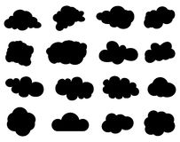 Cloud chat bubble icons set Royalty Free Stock Photo