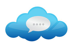 Cloud Chat Icon : Cloud Computing Concept Stock Photography