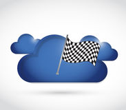 Cloud and checkered flag Royalty Free Stock Photo