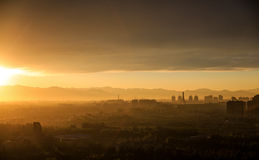 Cloud, china Beijing;Dusk;The sun;City;Spectacular; Royalty Free Stock Images