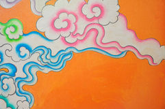 Cloud chinese style paint Stock Photography
