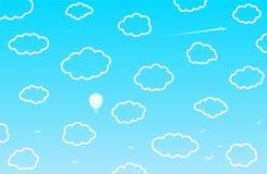 cloud chmurnego tło 1 niebo wektor Ilustracja Wektor