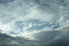 Cloud Circle with Whitespace for Copy. Royalty Free Stock Image