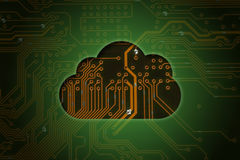 Cloud on circuit background Stock Images