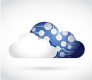 Cloud and circuit. illustration design Royalty Free Stock Image
