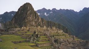 Cloud city machu pichu peru Stock Photos