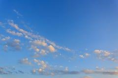 Cloud on clear blue sky Stock Photo