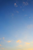 Cloud on clear blue sky Stock Image