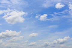 Cloud on clear blue sky, cloudy dramatic sky Stock Images