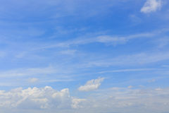 Cloud on clear blue sky, cloudy dramatic sky Royalty Free Stock Photos