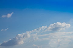 Cloud with clear blue sky Stock Images