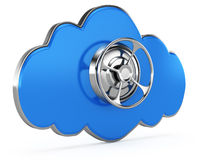 Cloud with closed safe door Royalty Free Stock Photo