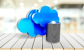 Cloud. Scape network server backup  computing storage compartment data Royalty Free Stock Image