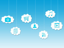 In the cloud, cloud computing Stock Photography