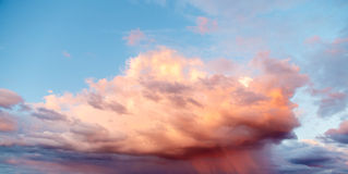 Cloud cloud before the storm. Landscape royalty free stock images