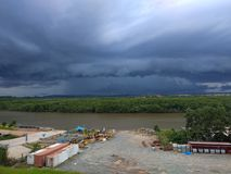 Cloud. In wain river balikpapan east borneo indonesia Stock Photography