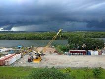 Cloud. In wain river balikpapan east borneo indonesia Royalty Free Stock Image