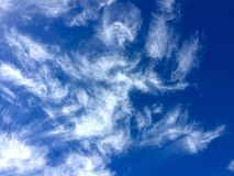Cloud. S with the dark blue sky stock images