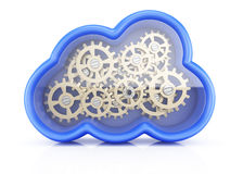 Cloud with cogwheels Royalty Free Stock Photo
