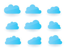 Cloud collection Royalty Free Stock Photography