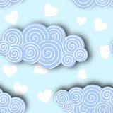 Cloud Collection in Blue Sky Background Vector Illustration Vector Illustration