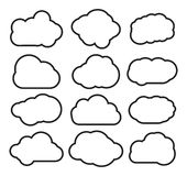 Cloud collection Stock Photo