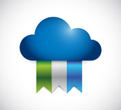 Cloud and color banners. illustration design Royalty Free Stock Photos