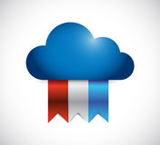 Cloud and color banners. illustration design Stock Photo