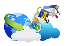 Cloud of colorful application icons Stock Photography