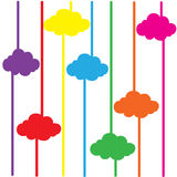 Cloud colorful background abstract vector illustrator EPS10 Royalty Free Stock Images