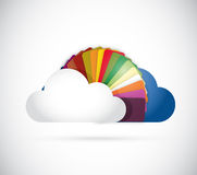 Cloud and colors illustration design Royalty Free Stock Image