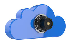 Cloud with combination lock Stock Photo
